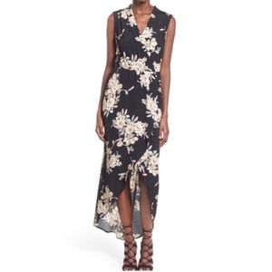 ASTR | Black Floral High Low Maxi Dress | Small